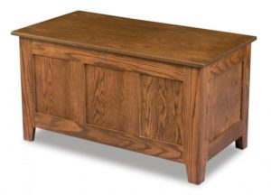 A & J - Classic Mission Cedar Chest - Dimensions (in inches): 38w x 19.75d x 20.5h, fully cedar lined.