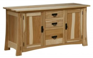 L & N - Modesto Hickory Credenza: 60x21x31, 16 inch Drawers.