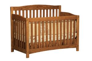 "OLD TOWN OAK - Monterey Crib - Dimensions: 55.5""w x 43""h x 30""d"