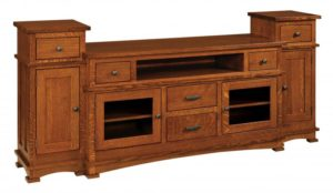SCHWARTZ - Kenwood TV Stand SC-87 w/Towers - Dimensions: 87w x 18d x 36.5h, center 30 inch h.