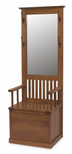 A & J - Narrow Hall Seat - Dimensions (in inches):24w x 18d x 73.5h, call store for additional sizes Mirror - Dimensions (in inches):18-7/8w x 33-9/16h, 16 inch Storage Area.