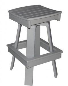 CREEKSIDE - Saddle Swivel Bar Chair - (SSBC17) Size: 17 inch.