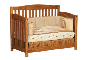 "OLD TOWN OAK - Monterey Toddler Bed - Dimensions: 55.5""w x 43""h x 30""d"