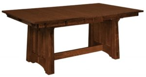 WEST POINT - Beaumont Trestle Table - Dimensions (in inches): 42x60, 42x66, 42x72, 48x60, 48x66, and 48x72 with up to 4 leaves - Custom finish options available, please see store for details.