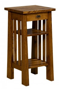 L & N - Open Freemont Mission Phone Stand: 16x15x31, 10 inch Drawer