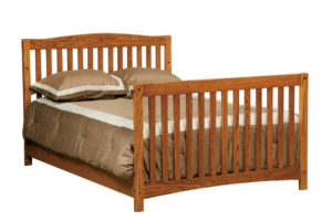 "OLD TOWN OAK - Monterey Double Bed - Dimensions: 55.5""w x 43""h"