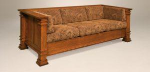 AJ's - Diamond Sofa: 85.5w x 36.25d x 29.5h (springs standard).