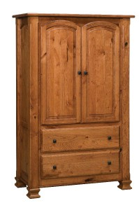 SCHWARTZ - Charleston One Piece Armoire - Dimensions: 2 drawer, 2 door, 44w x 21.5d x 70h