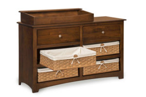"OLD TOWN OAK - Monterey 6 Drawer Dresser w/ Box Top - Dimensions: Dresser only size: 56""w x 34""h x 19""d, Dresser with box top: 56""w x 40""h x 19""d"