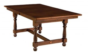 "WEST POINT - Stratton Trestle Table - Dimensions (in inches): 42x60, 42x66, 42x72, 48x60, 48x66, or 48x72 with up to four 12"" leaves - Custom finish options available, please see store for details."