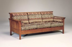AJ's - High Back Panel Sofa: 84w x 34.5d x 34h (solid bottom standard, springs optional).