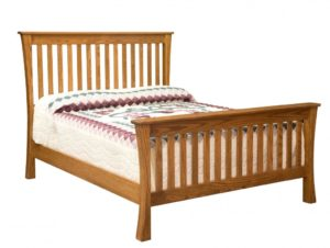 INDIAN TRAIL - Trestle Bed - Dimensions: HB 57 inch, FB 33 inch