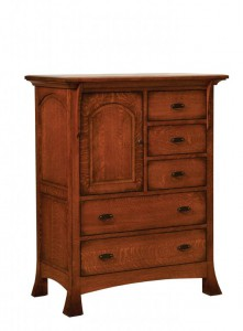 SCHWARTZ - Breckenridge Door Chest - Dimensions: 5 drawers, 1 door 42.5w x 22.25d x 53h