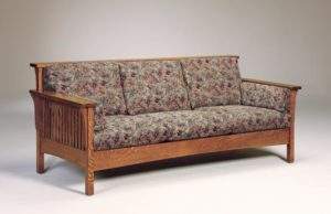 AJ's - High Back Slat Sofa: 84w x 34.5d x 34h (solid bottom standard, springs optional).