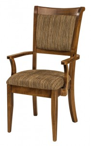 F & N - Adair Arm Chair - Dimensions (in inches): 21.5w x 17d x 40h - Other available styles include side chair, swivel bar stool, stationary bar stool, and desk chair.