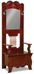 A & J - Ellis Hall Seat - Dimensions (in inches):30w x 19d x 78h, Mirror - Dimensions (in inches):18.5w x 27h.