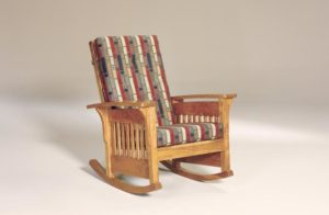 AJ's - Bow Arm Slat Rocker: 32w x 34d x 41h, Bow Arm Panel Rocker: 32w x 34d x 41h (not shown).