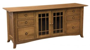 L & N - Shaker Hill 6 Drawer Credenza: 74x21x31, 16 inch Drawer.