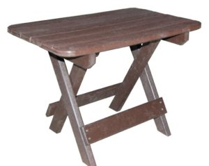 CREEKSIDE - Folding End Table - (FET22) Size: 16 x 22 inches.