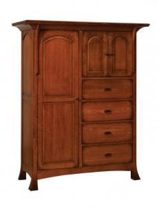 SCHWARTZ - Breckenridge Chifforobe - Dimensions: 4 drawers, 3 doors 58.5w x 24.25d x 73h