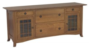 L & N - Shaker Hill 4 Drawer Credenza: 74x21x31, 14½ inch Drawer.