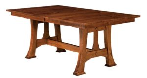 WEST POINT - Cambridge Trestle Table - Dimensions (in inches): 42x60, 42x66, 42x72, 48x60, 48x66, or 48x72 with up to 4 leaves - Custom finish options available, please see store for details.