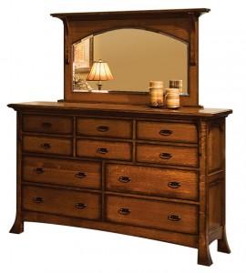 SCHWARTZ - Breckenridge Dresser - Dimensions: 10 drawers,66.5w x 22.25d x 45h