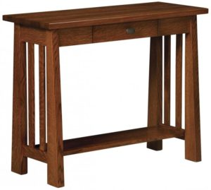 L & N - Open Freemont Mission Hall Table: 36 inch w x15 inches x29 inch h.