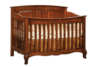 "OLD TOWN OAK - French Country Crib - Dimensions: 57""w x 43""h x 33""d"