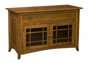 L & N - Shaker Hill Glass Door Credenza: 49x21x31, 16 inch Drawer.