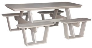 CREEKSIDE - Split Bench Picnic Table - (SPT802) Size: Six feet