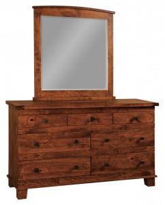SCHWARTZ - Laredo Dresser - Dimensions: 7 drawers, 66w x 22d x 38h Laredo Mirror: 43w x 33h
