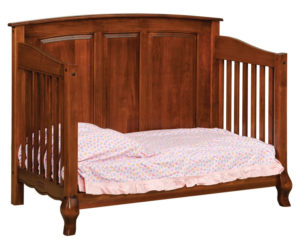 "OLD TOWN OAK - French Country Toddler Bed - Dimensions: 57""w x 43""h x 33""d"