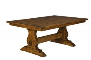 "WEST POINT - Austin Trestle Table - Dimensions (in inches): 42x60, 42x66, 42x72, 48x60, 48x66, or 48x72 with up to three 16"" leaves - Custom finish options available, please see store for details."