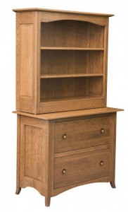 L & N - Shaker Hill Lateral File: 49x21x31, 16 inch Drawer Bookcase Topper.