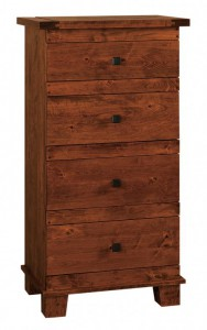 SCHWARTZ - Laredo Lingerie Chest - Dimensions: 4 drawers, 1 secret drawer, 27w x 18d x 53h