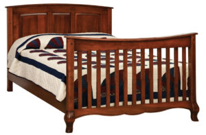 "OLD TOWN OAK - French Country Double Bed - Dimensions: 57""w x 43""h"