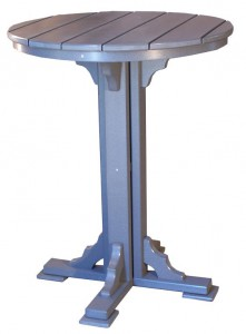 CREEKSIDE - Round Bar Table - (RT34B) Size: 34 inches.