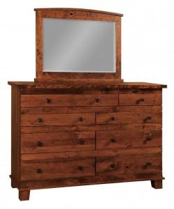 SCHWARTZ - Laredo Dresser - Dimensions: 9 drawers, 66w x 22d x 45h Larado Mirror: 43w x 33h