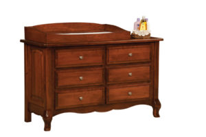 "OLD TOWN OAK - French Country 6 Drawer Dresser w/ Box Top - Dimensions: Dresser only size: 55""w x 33""h x 22""d, Dresser with box top: 55""w x 38""h x 22""d"