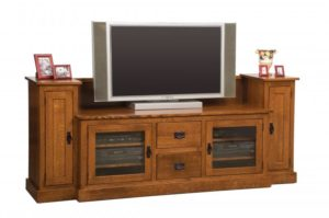 SCHWARTZ - Mission SC-60-M TV Stand w/Towers - Dimensions: 86w x 20d x 35.25h TV area width - Dimensions: 60 inches.