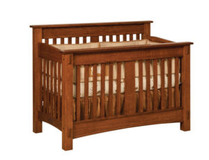 "OLD TOWN OAK - McCoy Crib - Dimensions: 57""w x 45""h x 33""d"