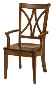 F & N - Callahan Arm Chair - Dimensions (in inches): 21.5w x 17d x 40h - Other available styles include side chair, swivel bar stool, stationary bar stool, and desk chair.