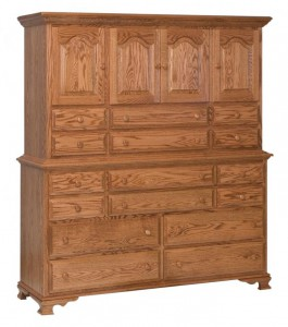 SCHWARTZ - Heritage Mule Chest: 2 piece, 66w x 21d x 74h, 1 shelf