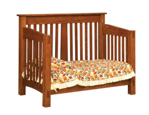 "OLD TOWN OAK - McCoy Toddler Bed - Dimensions: 57""w x 45""h x 33""d"