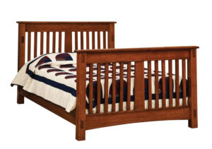 "OLD TOWN OAK - McCoy Double Bed - Dimensions: 57""w x 45""h"