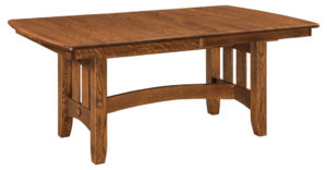 WEST POINT - Galena Trestle Table - Dimensions (in inches): 42x60, 42x66, 42x72, 48x60, 48x66, or 48x72 with up to 4 leaves - Custom finish options available, please see store for details.