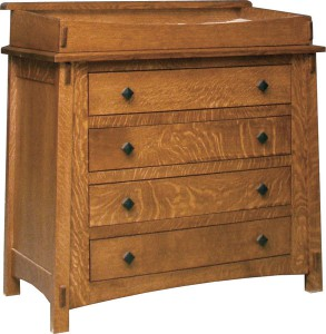"OLD TOWN OAK - McCoy 4 Drawer Dresser w/ Box Top - Dimensions: Dresser only size: 41""w x 35""h x 22""d, Dresser w/ box top: 41""w x 41""h x 22""d"