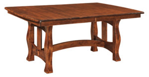 WEST POINT - Reno Trestle Table - Dimensions (in inches): 42x60, 42x66, 42x72, 48x60, 48x66, and 48x72 with up to 4 leaves - Custom finish options available, please see store for details.