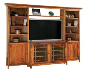 SCHWARTZ - Mission SC-M 4-piece TV Unit - Dimensions: 94w x 22.75d x 73.75h.